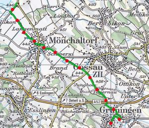 Gruningen Greifensee route 300x257