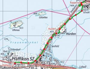 Holzbrucke Seedamm Weg route 300x230