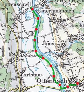 Reuss Uferweg route 277x300