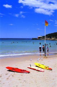 SCT Tathra flags on beach 198x300