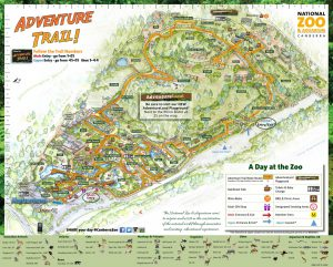 National Zoo And Aquarium Canberra Map 300x241