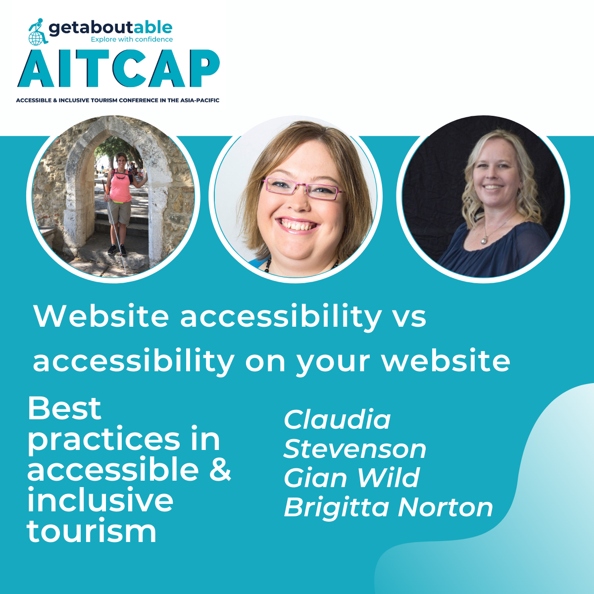 Panel discussion website accessibility Claudia Stevenson Gian Wild Brigitta Norton