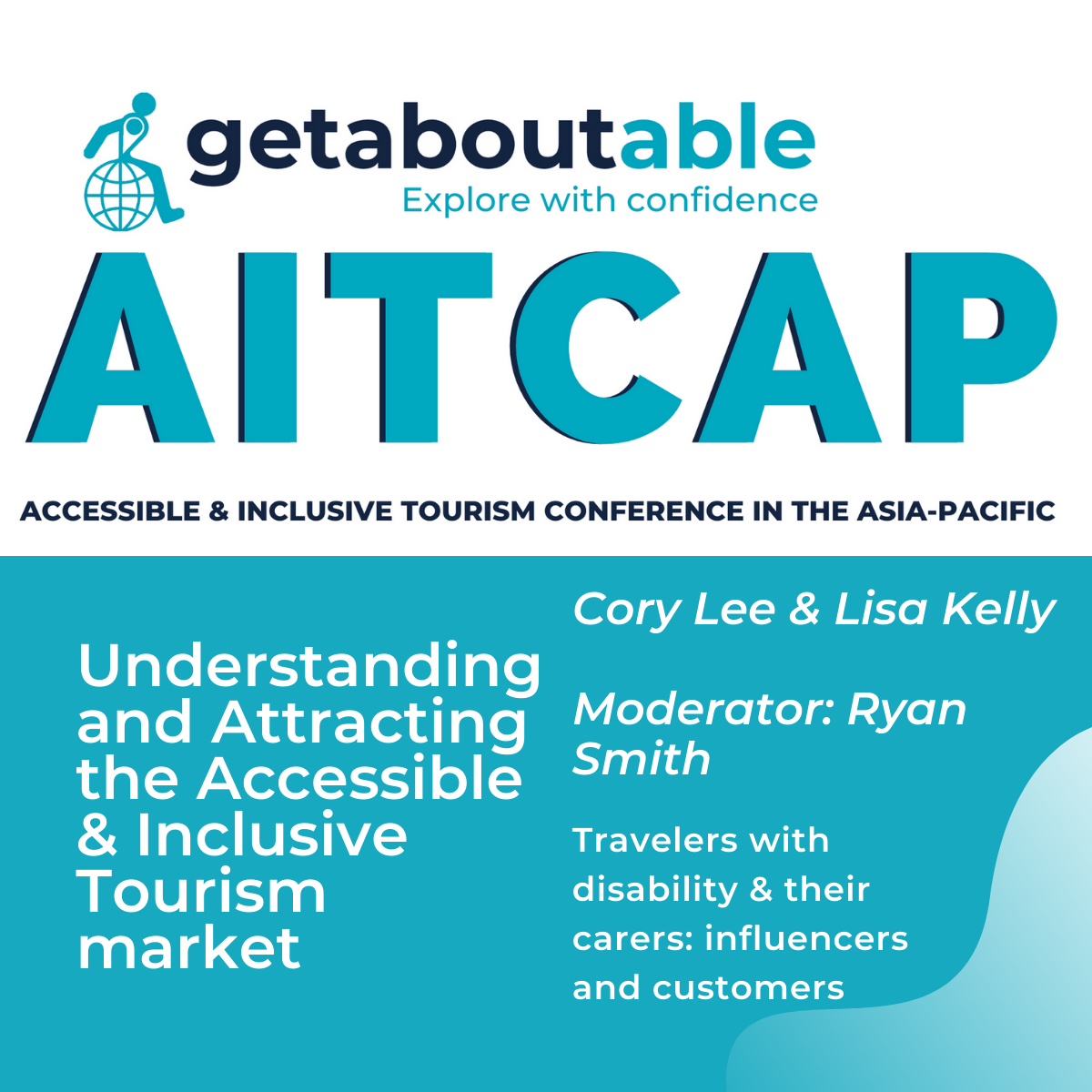 Panel discussion AITCAP Travellers with disability and their carers Lisa Kelly Cory Lee Ryan Smith